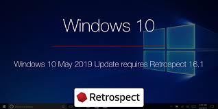 Retrospect Upgrading To Windows 10