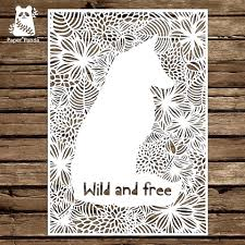Papercut Diy Design Template Wild And Free Commercial