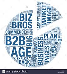 Word Cloud Of Business Terms Are Creating Pie Chart Shape On