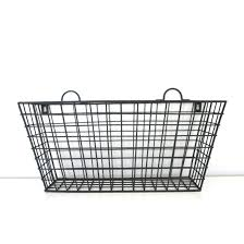 Black Metal Long Multi-functional Wall Hanging Wire Basket - Free Shipping  On Orders Over $45 - Overstock.com - 20036111