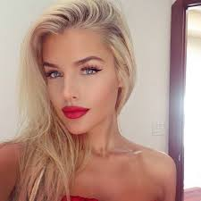red lipstick on blondes