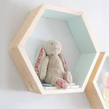 hexagon wall shelf mint