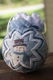 Another quilted ball ornament tutorial - with a hint to help keep ... & Snowman quilted ball. is creative inspiration for us. Get more photo about  home decor Adamdwight.com