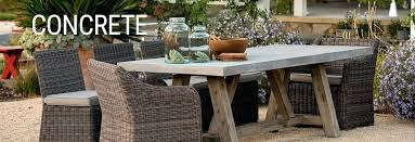 concrete outdoor patio dining table and wicker chairs tables top diy