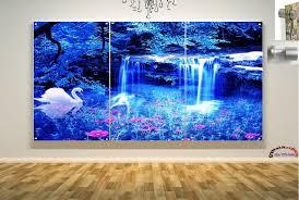 wall art floating acrylic glass plexiglass modern blue lagoon