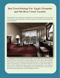 nile river cruise vacation powerpoint
