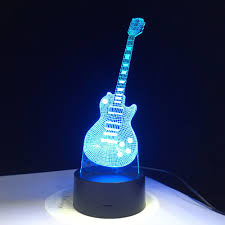 Electric Night Light Lamp Details About 3d Electric Guitar Led Lamp 7 Colorful Usb Table Lamp Baby Sleeping Night Light