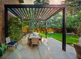 Chic modern patio pergola design with mid century accents