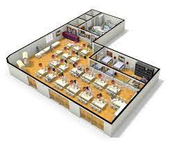 The world of modular has made a mark on the coffee shop industry and for very good reasons. 3d Plan Of Large Restaurant From Floorplanner Floor Planner Restaurant Floor Plan Floor Plan Layout