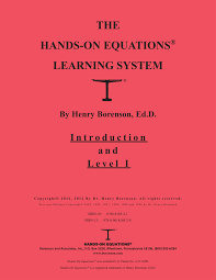 pdf the hands on equations learning system level i