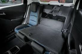 half the rear seat folded flat in the 2018 toyota yaris ia