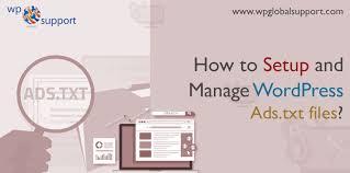 how to setup and manage wordpress ads txt files