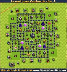 Layouts De Centro De Vila 9 Para Clash Of Clans Clash Of Clans Dicas
