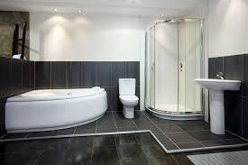 modern toilet and bath uses italian ceramic tiles