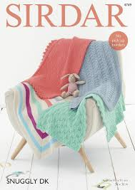 Patterned Blankets Adorable Sirdar 48 Knitting Pattern Patterned Blankets In Sirdar Snuggly DK
