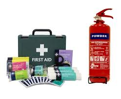 Fist aid kit extinguisher