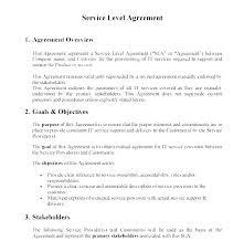 It Service Agreement Template Level Contract Doc Occupancy