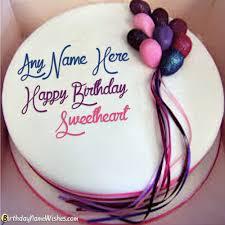 Birthday Cake Gift For Boyfriend With Name Editor ن Birthday
