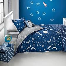 glow in the dark duvet cover a navy blue