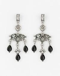 at le château le château gem chandelier earrings