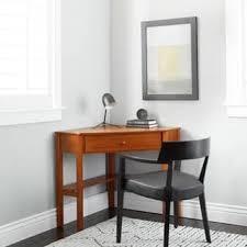 image corner computer. Porch \u0026 Den Third Ward Lincoln Cherry Wood Corner Computer Desk Image