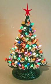 Christmas Decoration - Lighted Christmas Tree - Lighted Ceramic Christmas  Tree by pelton crafts
