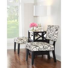 taylor black and white accent chair