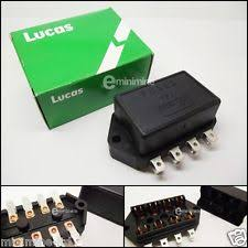 vehicle fuses and fuse boxes in brand lucas classic mini genuine lucas fuse box 4 line 1976 94 rtc440a glass type 4