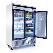 mcf8707 bottom mount 2 two glass door refrigerator atosa catering equipment inc