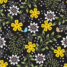 Floral Pattern Wallpaper Cool Decoration