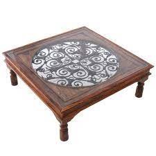 ganga range jali spanish coffee table