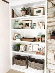 shelf decor living room