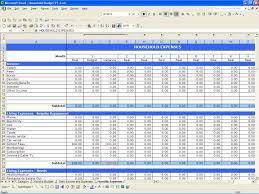 Household Budget Sheet Template Excel Spreadsheet Worksheet Free