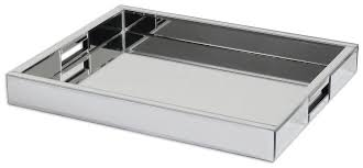 Decorative Glass Trays Amazon Modern Mirrored Glass Serving Tray Decorative Bar 13