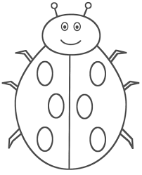 Small Picture Incridible Bug Coloring Pages Ladybug Animals Inside And Insects