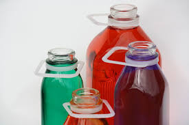 glass milk bottle plastic handles