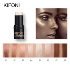 kifoni makup bronzer highlighter stick 8 colors contour makeup concealer pen face waterproof glow brighten cosmetic