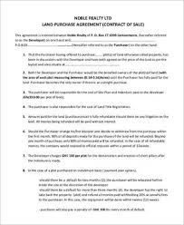 Purchase Agreement Samples 8 Land Purchase Agreement Sample Free Samples Examples Format