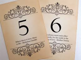 Love Quotes For Weddings Impressive Love Quote Wedding Table Numbers Vintage Quotes Table Numbers Love