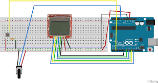fritzing project display potentiometer read nokia lcd repoprojectsddisplay and circuit symbol resistor dual battery