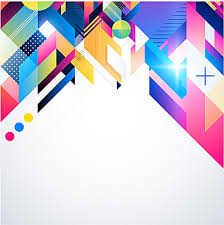 Fancy Background Design Fancy Colored Geometric Blocks Of Color Background Material