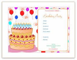 Microsoft Word Birthday Invitation Template Blank Birthday