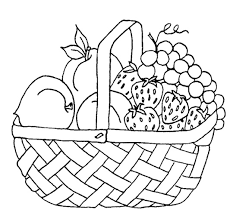 Small Picture Clever Design Coloring Pages Of Fruit Baskets Free Printable For