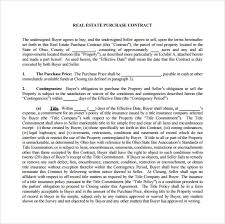 purchase agreement sample sample real estate purchase agreement 7 examples format