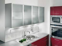 Small Picture Picture of Kitchen Wall Units with Aluminium Framed Satinised
