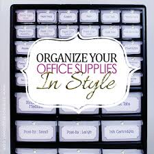 organize office. Organize Office Supplies In Style With A Parts Chest