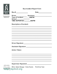 Construction Accident Report Form Template Incident Word Uk