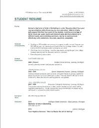 Basic Resume Outline Sample Objective Statements For High School