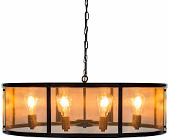 buy large round black iron industrial chandelier online cfs uk