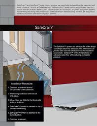 basement drainage design. Brochure Basement Drainage Design